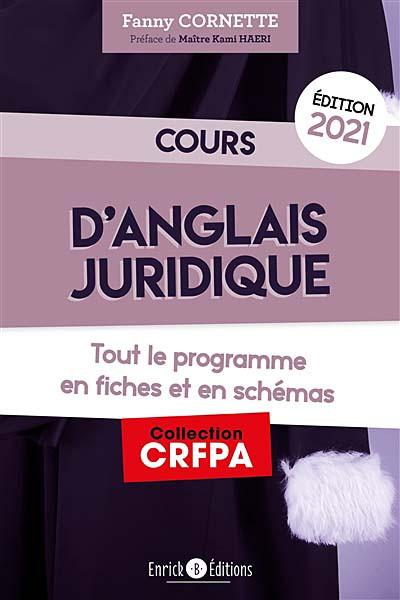 Cours d'anglais juridique - Édition 2021