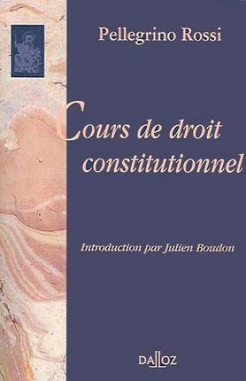 Cours de droit constitutionnel