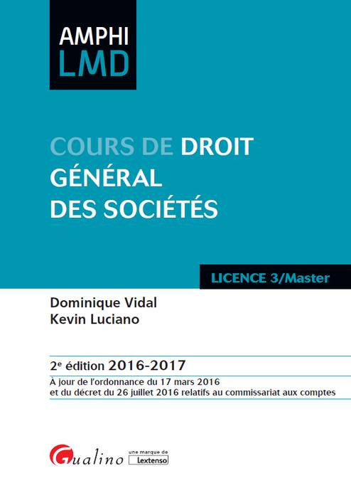 [EBOOK] Cours de droit général des sociétés 2016-2017