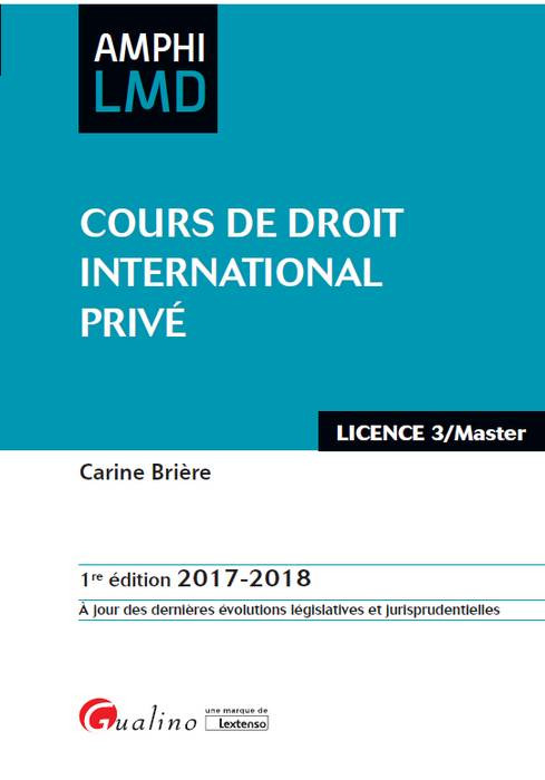 cours de droit international priv u00e9