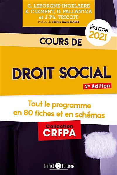 Cours de droit social - Édition 2021