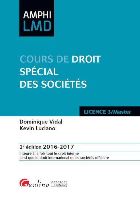 Cours de droit spécial des sociétés2016-2017