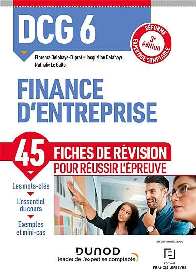 DCG 6 - Finance d'entreprise