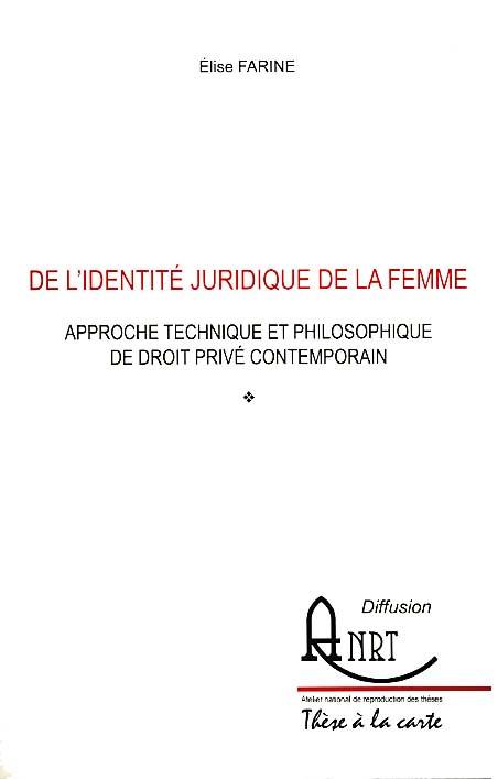 De l'identité juridique de la femme