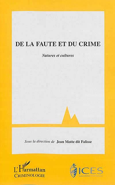 De la faute et du crime