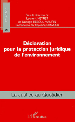 Déclaration pour la protection juridique de l'environnement