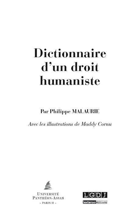 Dictionnaire d'un droit humaniste