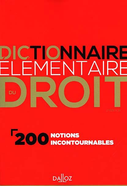 Dictionnaire élémentaire du droit
