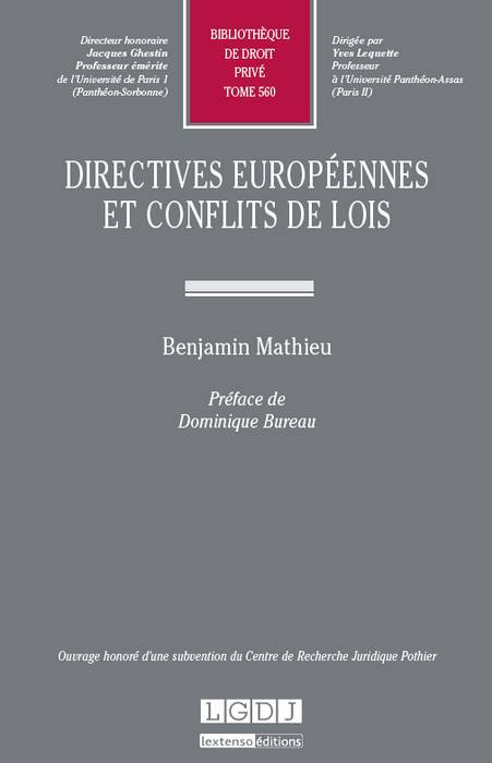 Directives européennes et conflits de lois