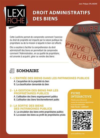 Droit administratif des biens (fascicule)