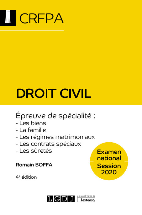 Droit civil - CRFPA - Examen national Session 2020