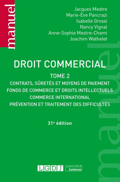 [EBOOK] Droit commercial