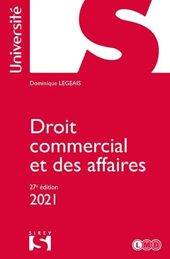 Droit commercial et des affaires 2021