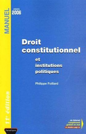 Droit constitutionnel et institutions politiques 2005-2006