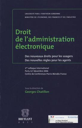 Droit de l'administration électronique