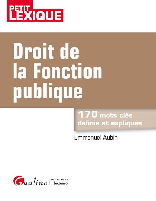 [EBOOK] Droit de la fonction publique