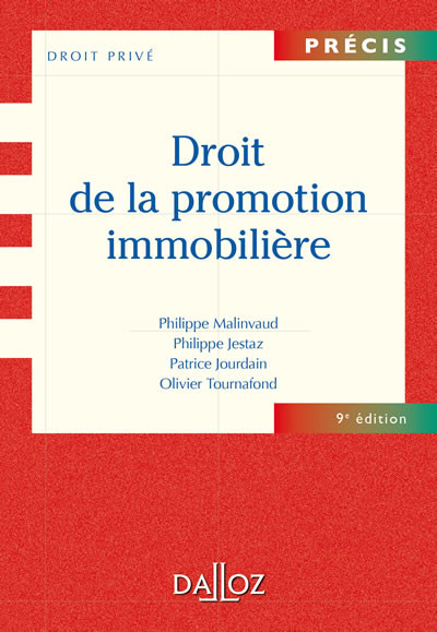 droit de la promotion immobili u00e8re - jestaz - jourdain - malinvaud