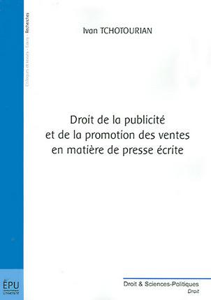 Droit de la publicité et de la promotion des ventes en matière de presse écrite