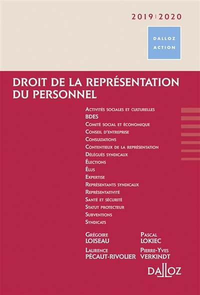 Droit de la représentation du personnel 2019-2020