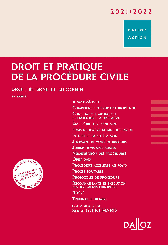Droit et pratique de la procédure civile 2021-2022