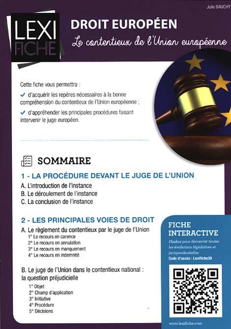 Droit européen (fascicule)