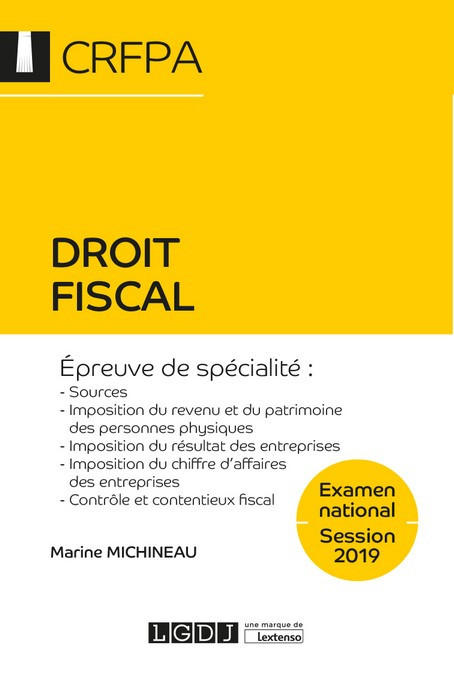 Droit fiscal - CRFPA - Examen national Session 2019