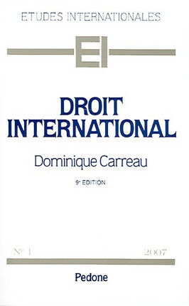 Droit international 2007