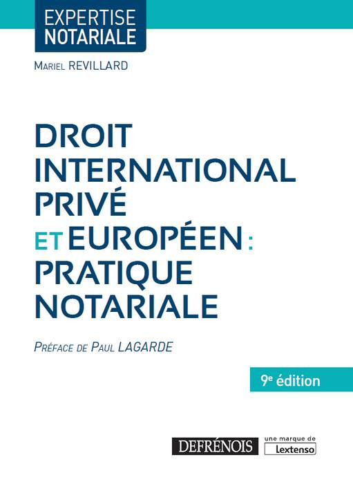 droit international priv u00e9 et europ u00e9en   pratique notariale