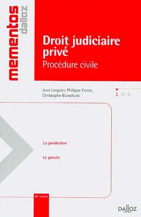 Droit judiciaire privé : procédure civile
