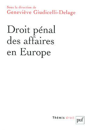 Droit pénal des affaires en Europe
