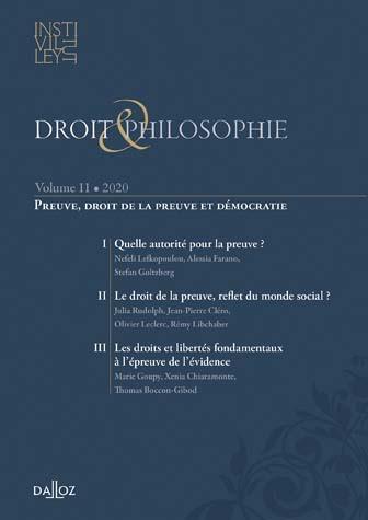 Droit & philosophie : annuaire de l'Institut Michel Villey 2020