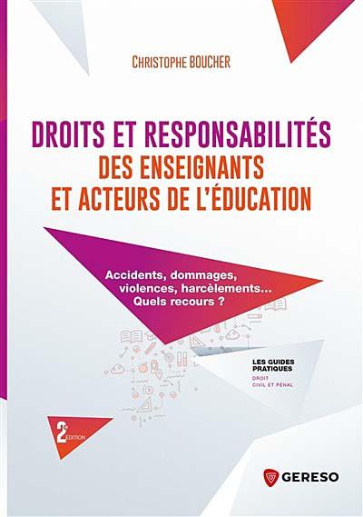 Droits et responsabilités des enseignants et acteurs de l'éducation