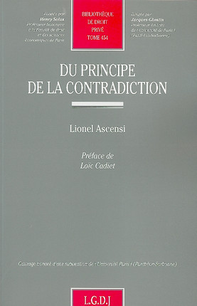 Du principe de la contradiction