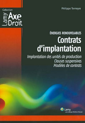 Energies renouvelables : contrats d'implantation