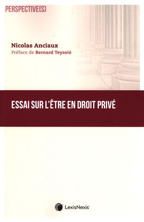 Essai sur l'être en droit privé
