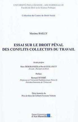 Essai sur le droit pénal des conflits collectifs du travail