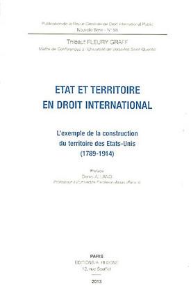 Etat et territoire en droit international