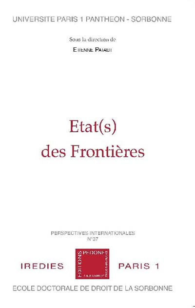 Etat(s) des frontières