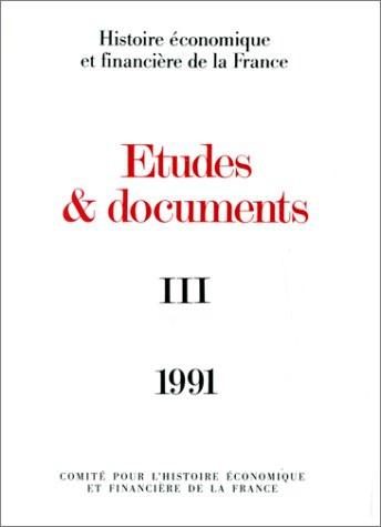 Études et documents - 1991