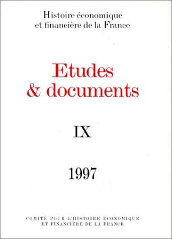 Études et documents - 1997