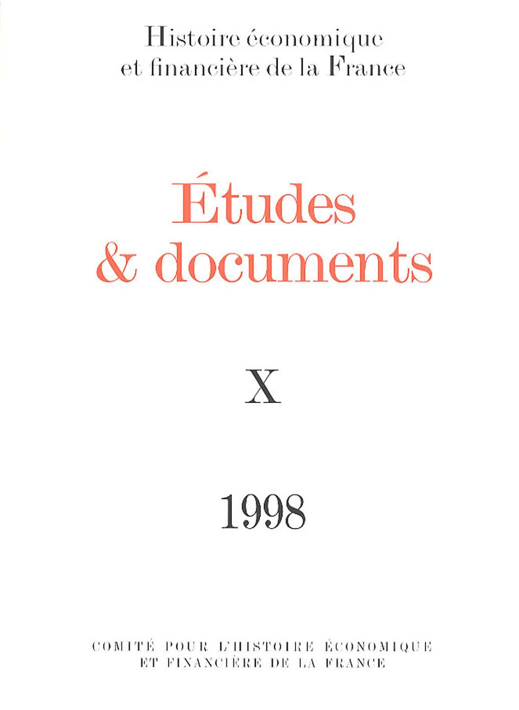 Études et documents - 1998