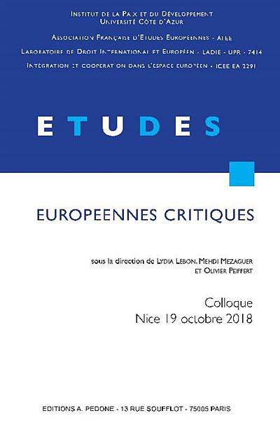 Études européennes critiques