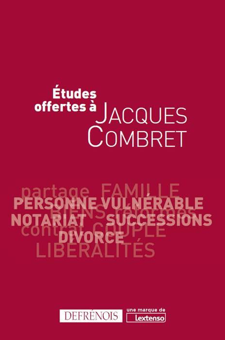 Études offertes à Jacques Combret