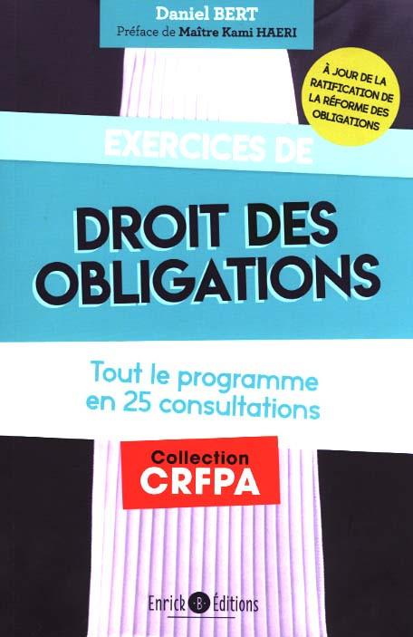 Exercices De Droit Des Obligations Bert 9782356443199 Lgdj Fr