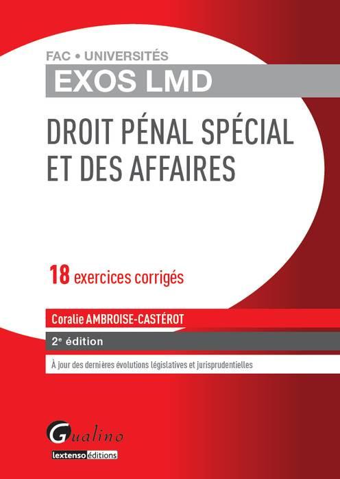 [EBOOK] Exos LMD - Droit pénal spécial et des affaires