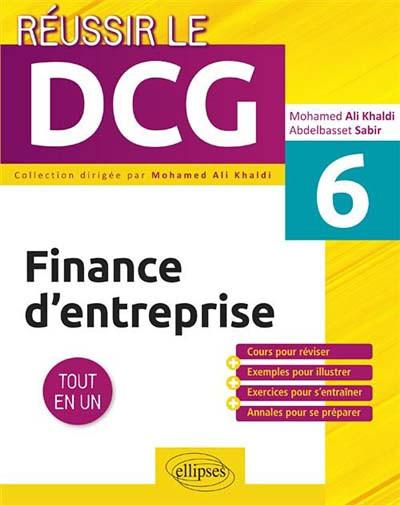 Finance d'entreprise : UE 6