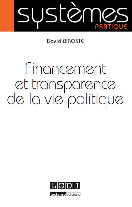 Financement et transparence de la vie politique