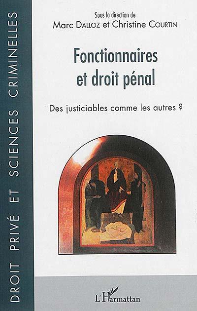 Fonctionnaires et droit pénal