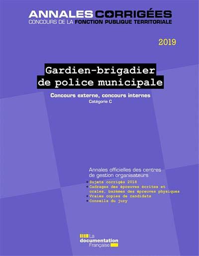 Gardien-brigadier de police municipale 2019