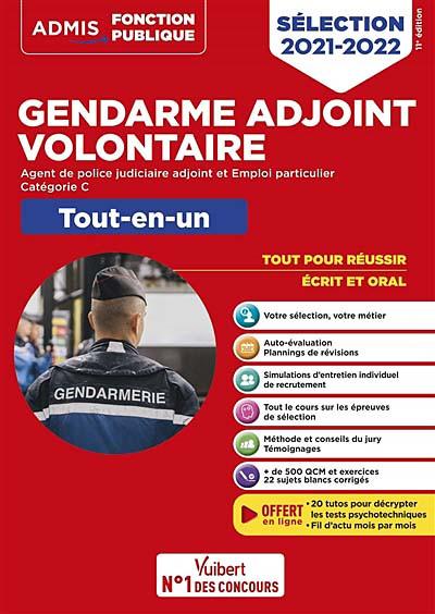 Gendarme adjoint volontaire : sélection 2021-2022